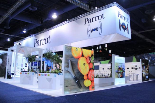 Large trade show exhibit